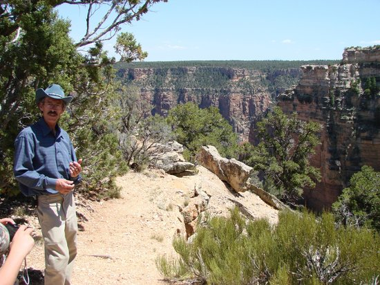 Canyon Dave Tours Grand Canyon:                   Many guides can read history, He knows history of rock