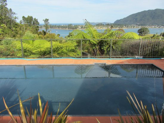 Colleith Lodge:                   pool and view