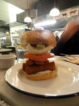 Bobos Burgers Restaurant:                   How do you even begin to eat this....open wide!