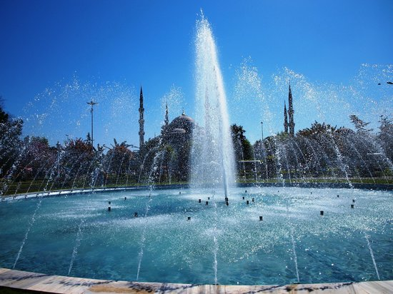 Historic Areas of Istanbul: Fountains between Blue Mosque and Hagia SOphia