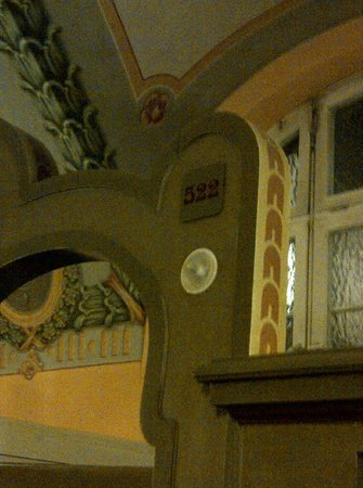 Mullersches Volksbad : Jugenstil wall painting in the sauna suite