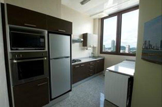 Aparthotel Torres de Alba: Cocina completamente equipada