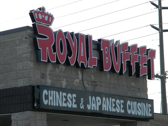 Royal Buffet: Sign