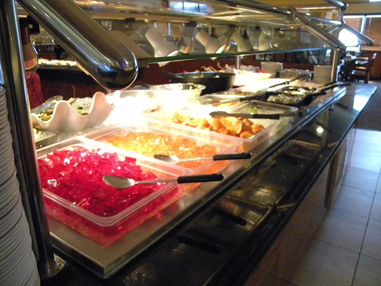 Royal Buffet: Fresh Fruit, Jello's and Salad Bar