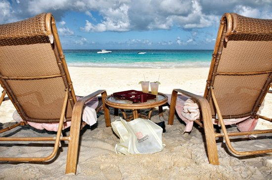 Frangipani Beach Resort:                   Rum punch and backgammon on the beach
