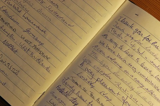 Rivendell Guest House: Guest Book