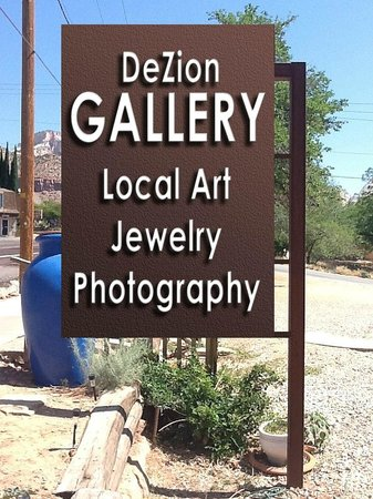 DeZion Gallery: Our New Sign!