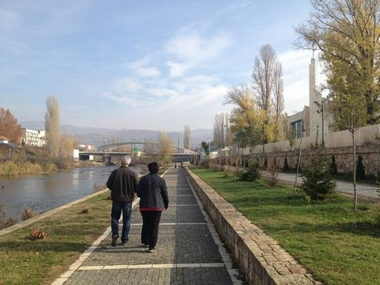 Mitrovica, Kosovo:                   A morning walk alongside Iber river