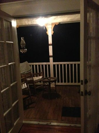The Laurel Oak Inn:                   Your own porch!