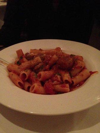 La Casa d'Italia Ristorante: Rigatoni special with homemade spicy sausage in tomato sauce