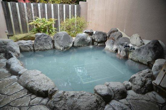Ebisuya Ryokan:                   貸切露天風呂