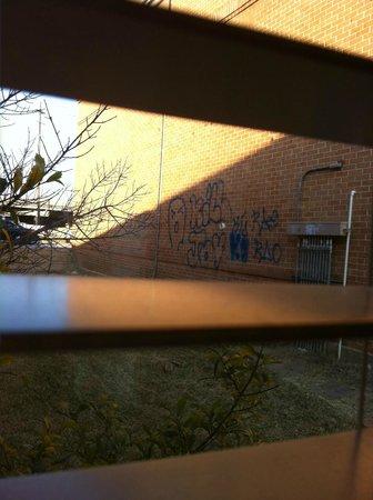 The Regency Hotel :                   Graffiti on the buildings