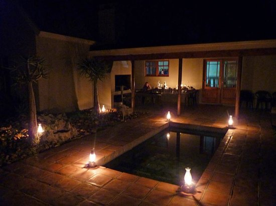 Petersfield Farm Cottages:                                     night time lamp magic