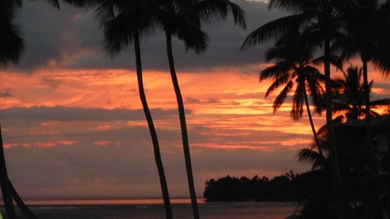 The Warwick Fiji:                   sunset