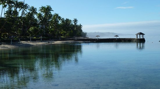 The Warwick Fiji:                   view from the beach