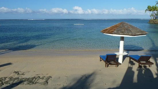 The Warwick Fiji:                   view of beach