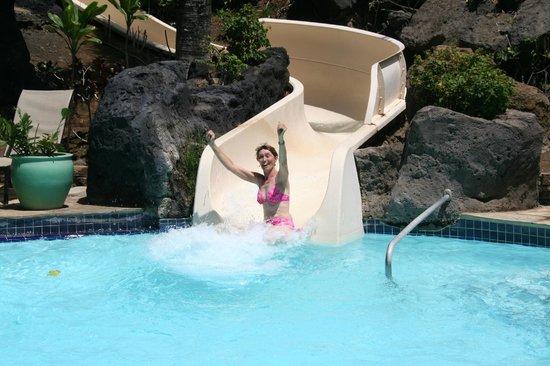 Waikoloa Beach Resort:                   Waterslide! yippee!