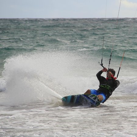 Montpelier Plantation & Beach:                   Kiting on a public beach on Nevis