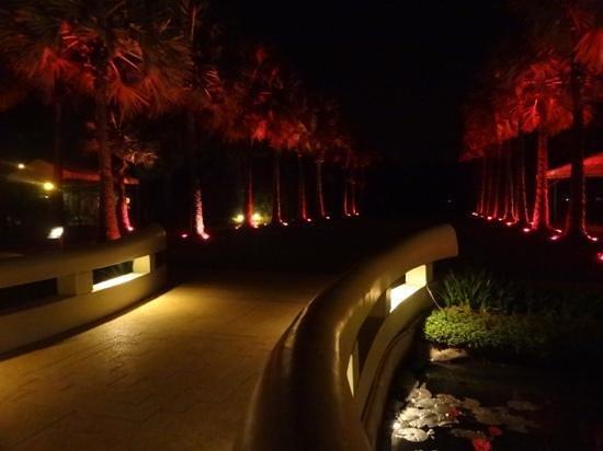 Le Meridien Angkor:                   メレディアンホテル中庭・裏庭
