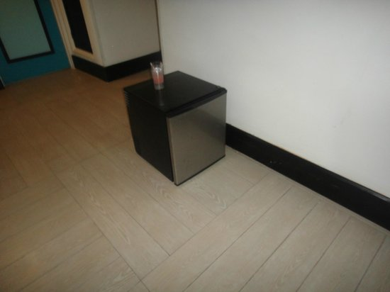 Sunscape Splash Montego Bay: found this in our friend's hallway.  between the 3 couples, none of us had a mini-fridge in our