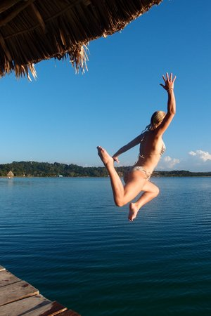 Hotel Mon Ami: saltar en agua cristalinas