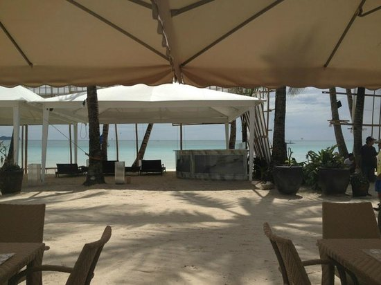 The District Boracay :                   View from the ground resraurant