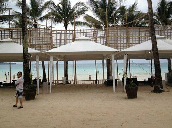 The District Boracay:                   Hotel's private beach area where we can have dinner at night