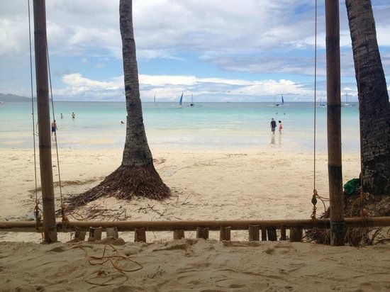 The District Boracay:                   View from in front of the hotel