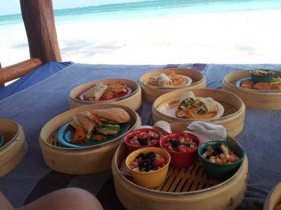 Azul Beach Resort Riviera Maya:                   Our beach picnic!!