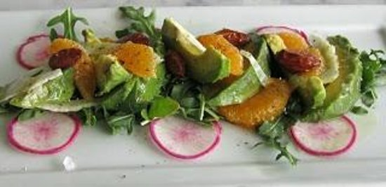 Muddy Leek:                   avocado mandarin salad