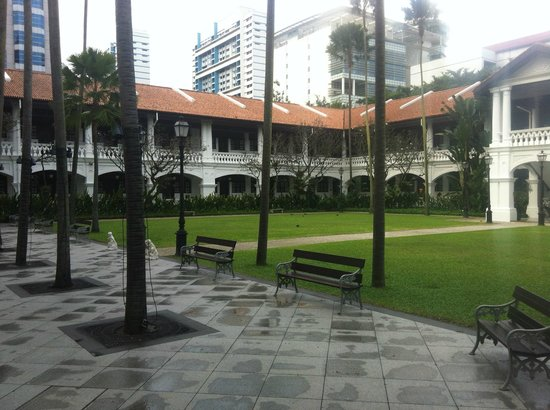 Raffles Hotel Singapore:                   Private Grounds in front of Palm Court Suite