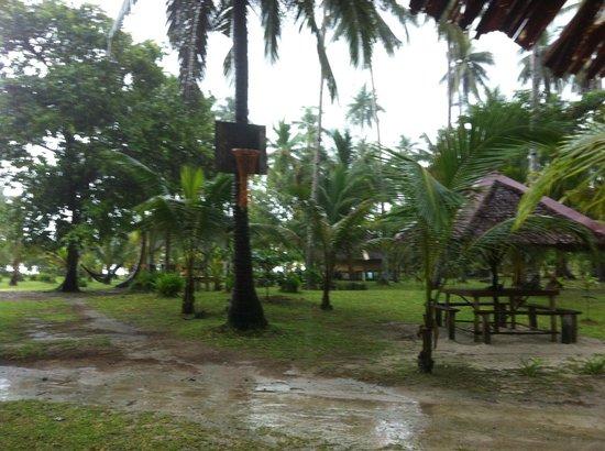 Mutiara Beach Guesthouse: Eating area near main reception