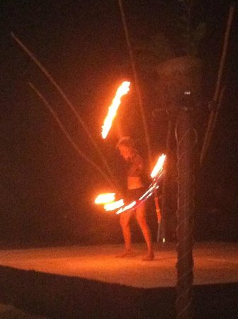 The Grand Mayan at Vidanta Nuevo Vallarta:                   fire dancing at the beach party