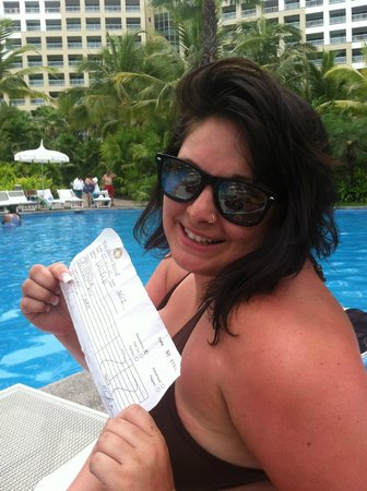The Grand Mayan at Vidanta Nuevo Vallarta:                   Won a crazy game/free drink coupon!