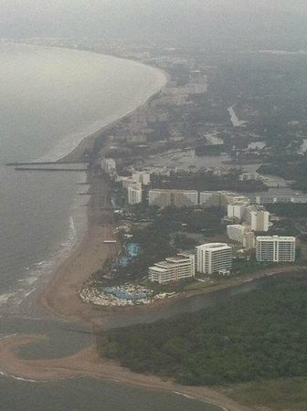 The Grand Mayan at Vidanta Nuevo Vallarta:                   view from plane
