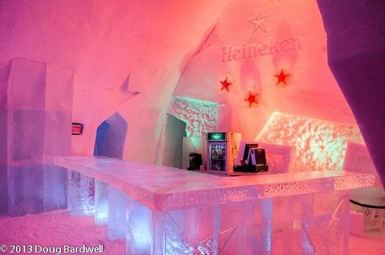 Hotel de Glace:                   One of two bar areas
