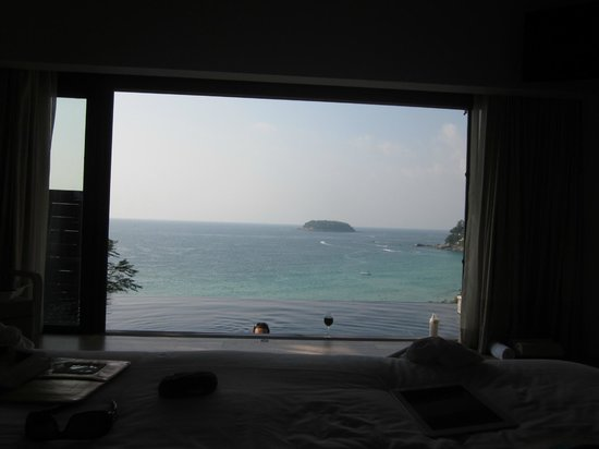 The Shore at Katathani:                   Veiw from the bed Villa 8833