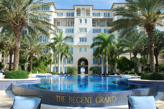 The Regent Grand:                   View as you enter the resort