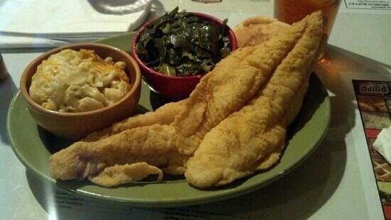 Mama J's Kitchen:                   two piece catfish (get the one piece)