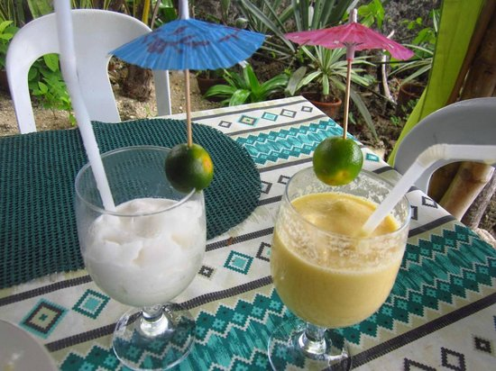 Royal Cliff Restaurant:                   Our drinks with umbrellas! You can use one if it rains!