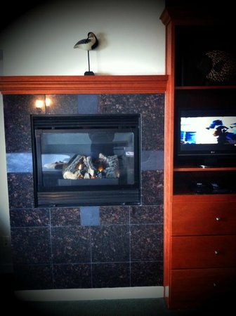 Starfish Manor Oceanfront Hotel:                   Fireplace & TV