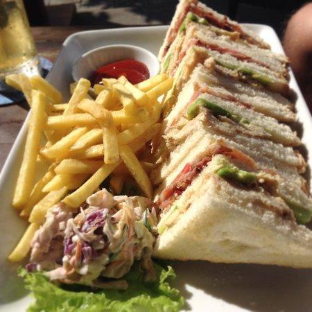 Al Fresco's Restaurant:                   Club sandwich