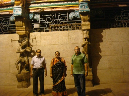 Templo de Sri Meenakshi:                   In front of the temple