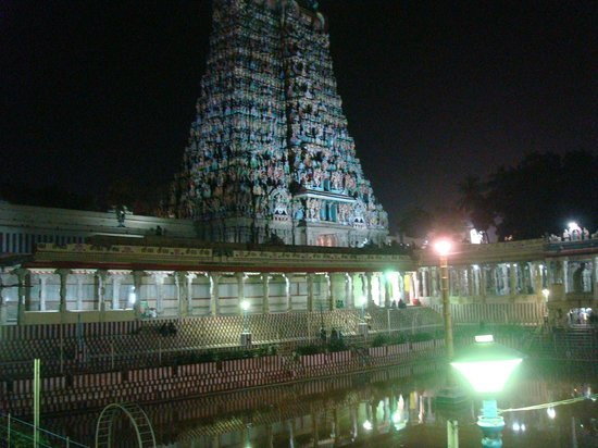 Sri Meenakshi Temple:                   Golden lotus pond