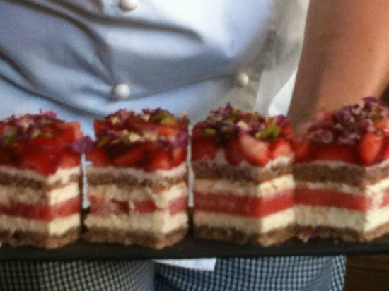 Travelicious Tours:                   Black Star Pastry Strawberry and watermelon cake.