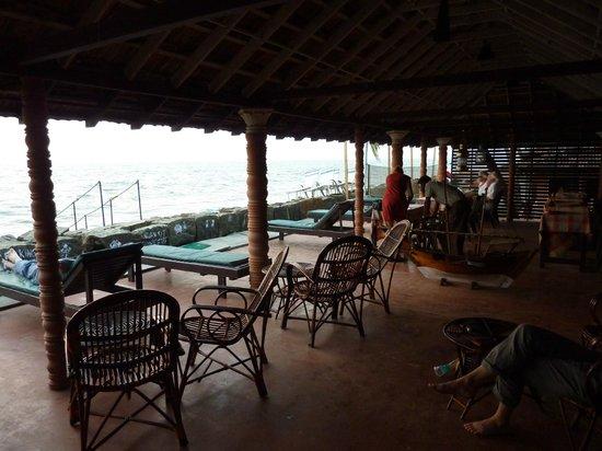 Brighton Beach Cafe :                                                                         The Peaceful terrace