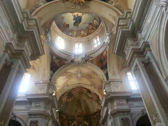 Province of Catania, Italy:                   The inside St.Agatha's Church.
