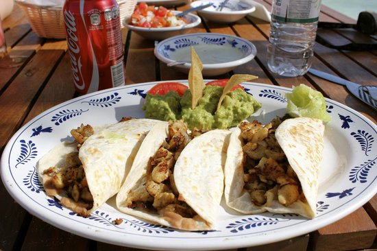 Mahekal Beach Resort:                                                                         Chicken tacos