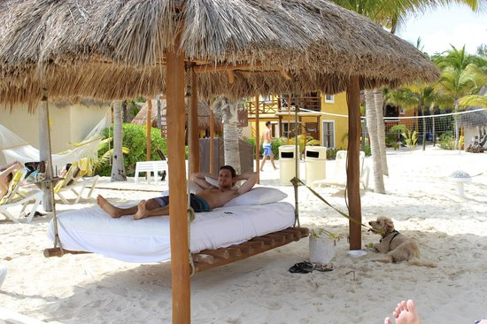 Mahekal Beach Resort:                                                                         Beach bed