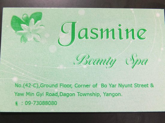 Jasmine Beauty Spa:                   名刺